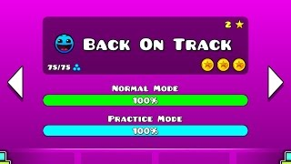 Geometry Dash Walkthrough - Level 2 (Back On Track) [ALL COINS]