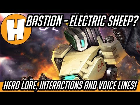 Overwatch - Bastion Interactions, Lore and Voicelines - Electric Sheep! | Hammeh