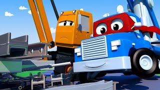 Детские мультфильмы с грузовиками - КРАН-МАГНИТ - Трансформер Карл в Автомобильный Город