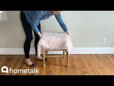 How To Diy A West Elm Inspired Faux Fur Stool Youtube