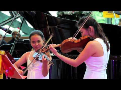 Jiwon Kim and Sujie Kim - Danse Macabre violin duet