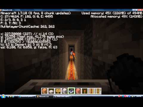 234. Minecraft Train Tunnel (Gradual Slope)