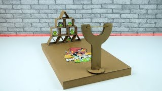 How to Make Real Life Angry Birds Game play from Cardboard