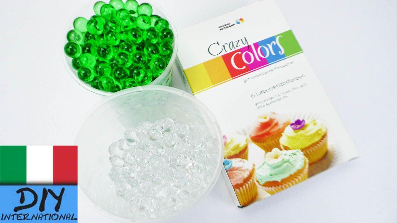 come colorare perle Orbeez con un colorante alimentare | Perle ...