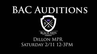 BAC Auditions Promo