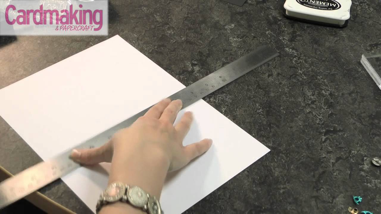 Cardmaking & Papercraft - How to: make a base card - YouTube