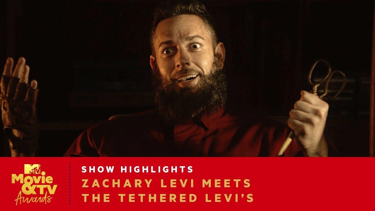 Zachary Levi Meets The Tethered Levi's | 2019 MTV Movie & TV Awards