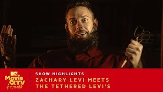 Zachary Levi Meets The Tethered Levi's | 2019 MTV Movie & TV Awards