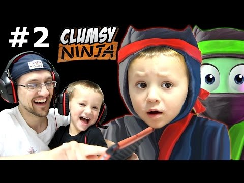 Thumbnail: Dad & Chase play Clumsy Ninja Pt 2: When Factory Balls Interrupt Lvl 5 Journey! (FGTEEV GAMEPLAY)