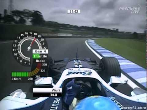 F1 Interlagos 2006 - Alex Wurz Onboard