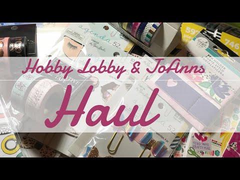 JoAnns and Hobby Lobby Haul 😍
