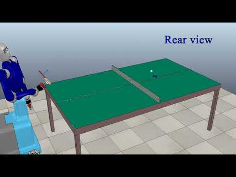 An optimal trajectory planner for a robotic batting task: The table tennis example