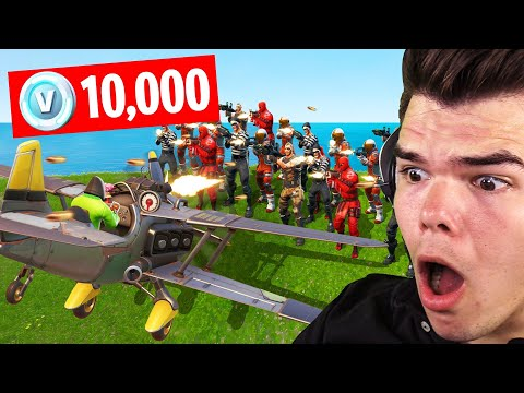 MOST KILLS WINS 10,000 V-BUCKS! (Fortnite Plane Challenge)