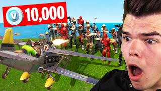 MOST KILLS WINS 10,000 V-BUCKS! (Fortnite Plane Challenge)