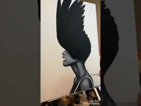 Timelapse Oil Painting Swan