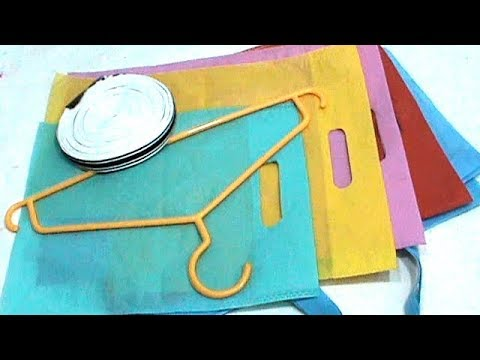 Clothes Hanger and Shopping Bag crafts | Best out of waste | Reuse Idea | #RS crafts