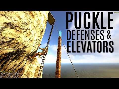 BUILDING PUCKLE DEFENSES and The Elevator - Atlas Gameplay - Official PVP