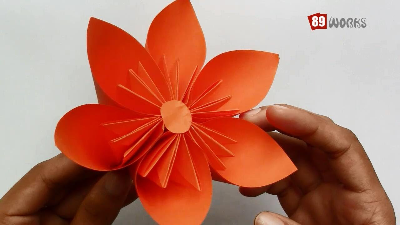 How to make origami kusudama flower step by step - Origami Paper Folding Instructions Kusudama Flower Work 01 Youtube