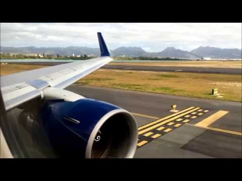 Delta 767-300ER - Honolulu to Los Angeles - Takeoff and Night Landing