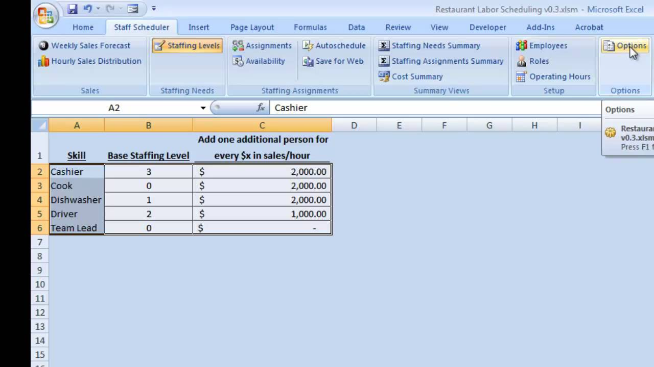Establishing a Staffing Plan using a Sales Forecast YouTube – Staffing Model Template