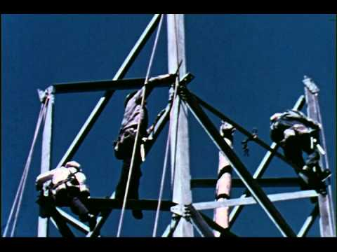 Seattle City Light: Transmission Line Construction footage from 1940