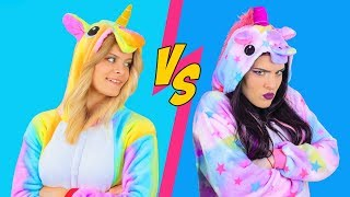 Good Unicorn Makeup vs Bad Unicorn Makeup Challenge / 8 DIY ...