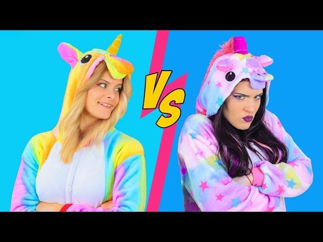 Good Unicorn Makeup vs Bad Unicorn Makeup Challenge / 8 DIY Amazing Unicorn Makeup Ideas