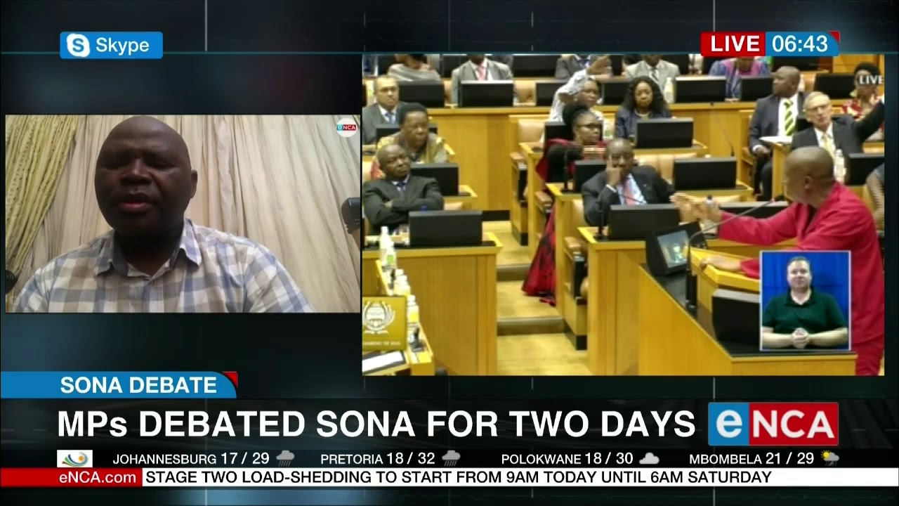 MP's debated SONA for two days - eNCA