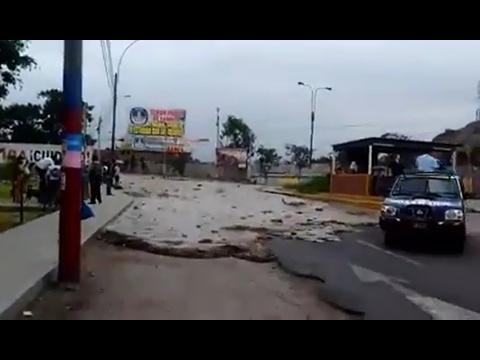El preciso momento de la inundación de San Juan de Lurigancho