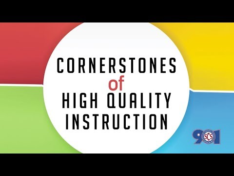 Cornerstones Of High Quality Instruction Youtube