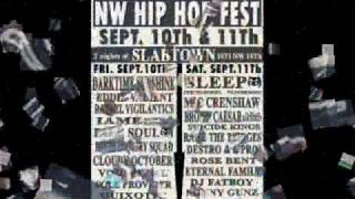NW Hip Hop Fest [Fri-Sat, Sept. 10th & 11th] 21+ $6 Cover