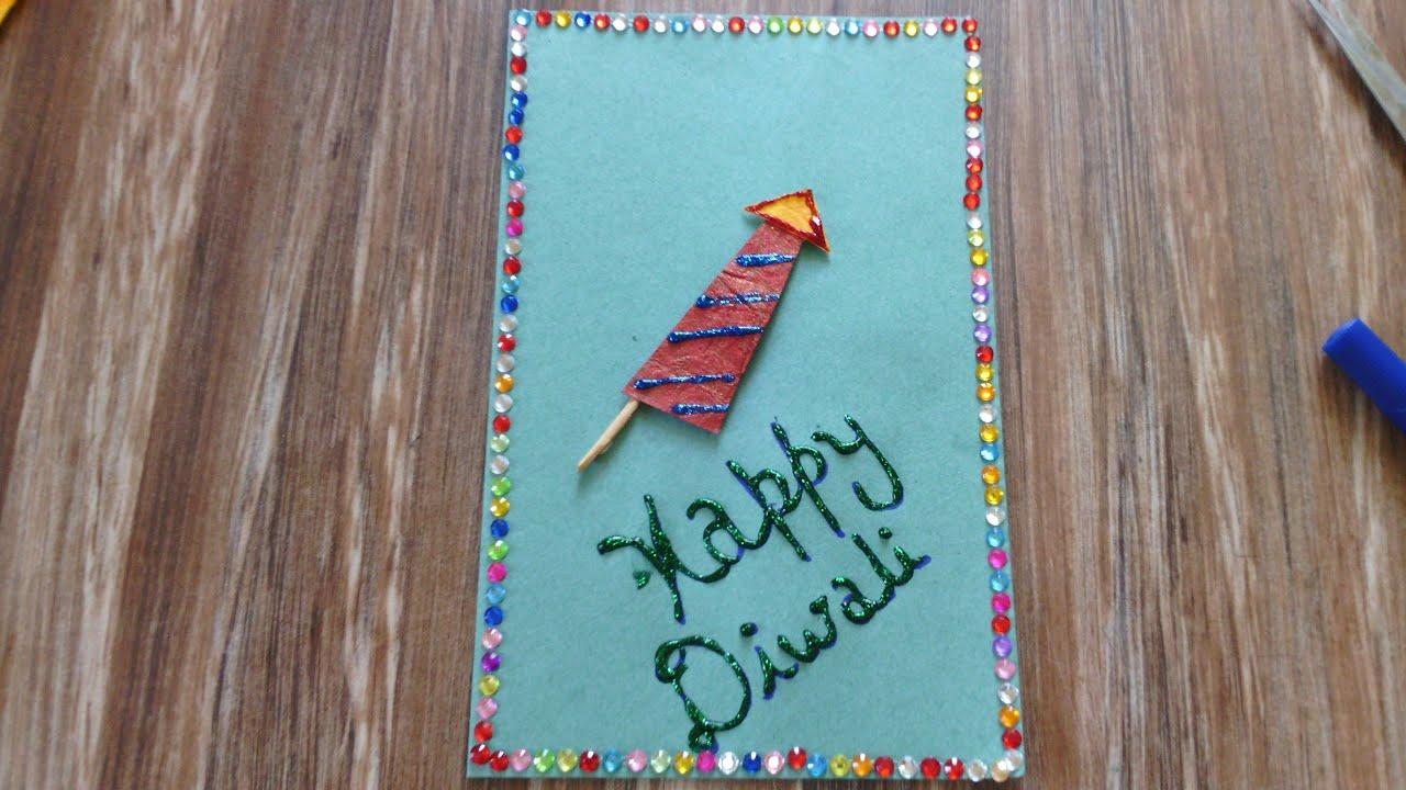 Diwali Card Making Diwali Greeting Cards For Kids Youtube
