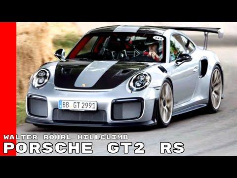 Walter Röhrl Driving Up The Goodwood Hillclimb With Porsche 911 GT2 RS