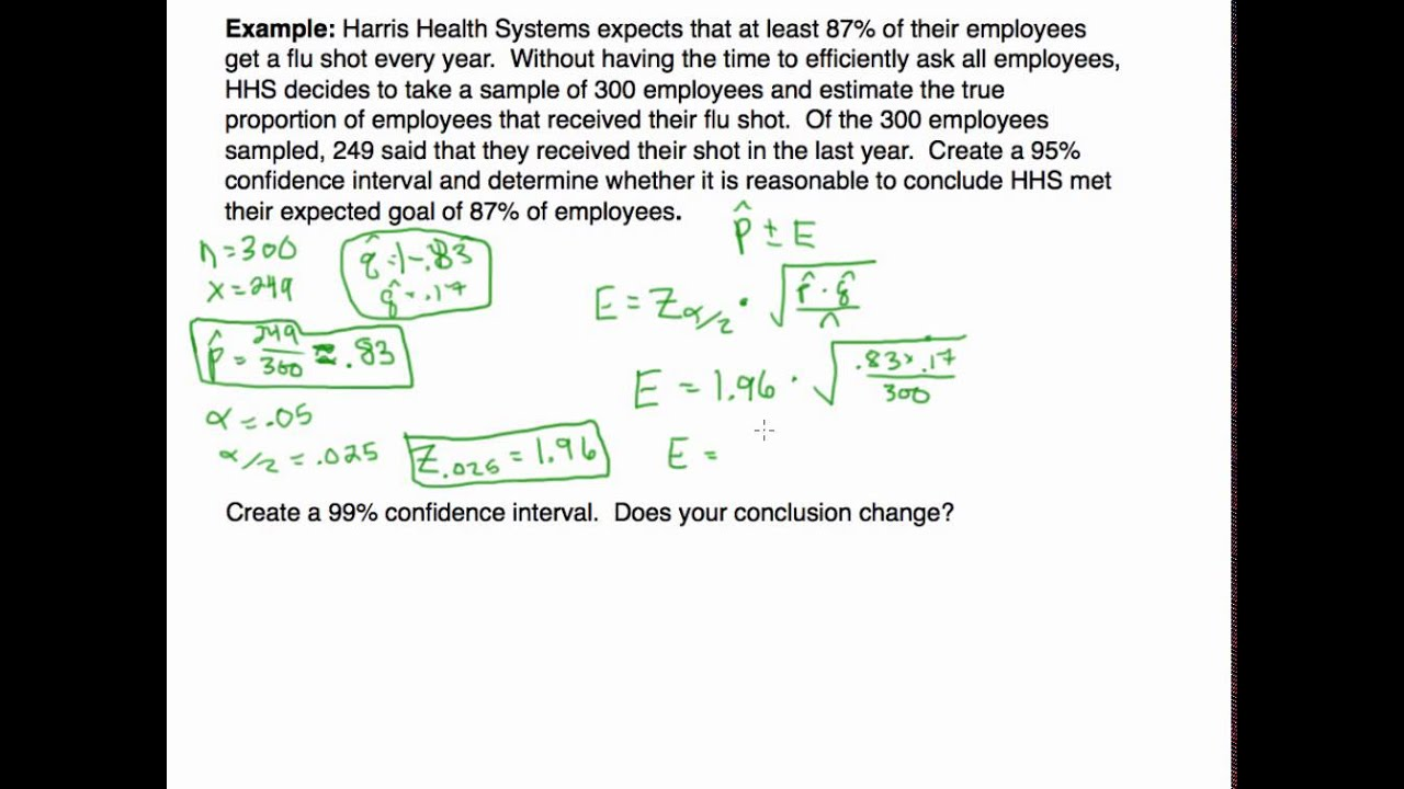 Confidence Intervals: Estimating a Proportion Example - YouTube