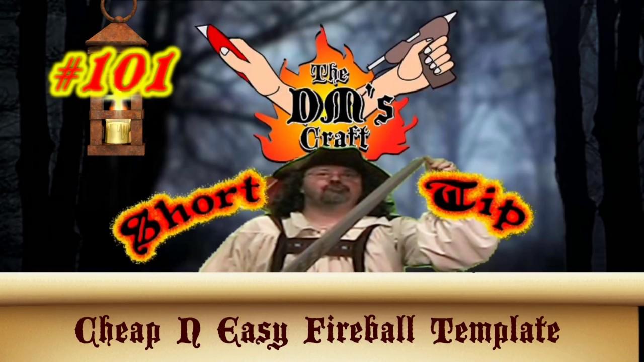 diy fireball spell template for d d dm s craft short tip 101