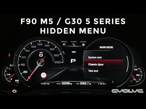 F90 M5 G30 5 Series BMW Hidden Menu Tutorial