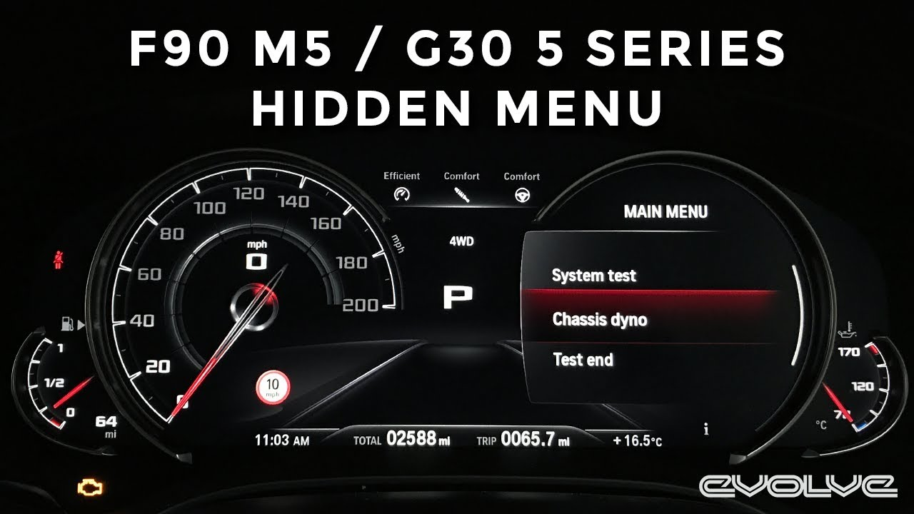F90 M5 G30 5 Series BMW Hidden Menu Tutorial