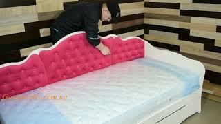 видео Кровать DreamLine Тахта с выкатными ящиками с матрасом и основанием