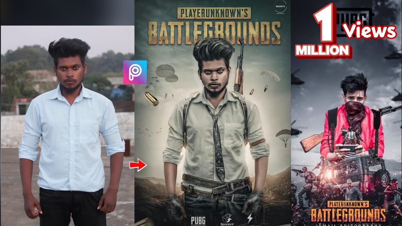 PicsArt PUBG Game Poster Photo Editing Tutorial Step By