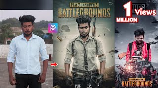 PicsArt PUBG Game Poster Photo Editing Tutorial Step By Step in Picsart Step By Step in Hi ...