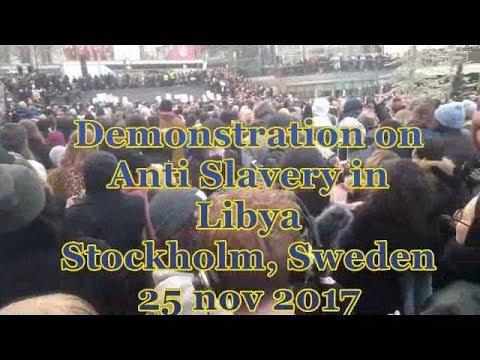Stockholm demo on Libya 25 Nov 2017
