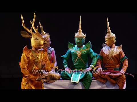 Ramayana from Laos : Sita Haran scene