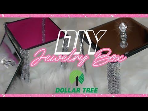 DIY Dollar Tree Mirror | DIY Jewelry Box | DIY Glam Room Decor