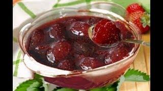 Рецепт густого клубничного варенья с твердыми ягодами.