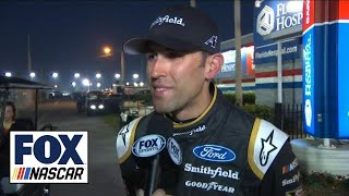 Aric Almirola Comments On That Last-Lap Wreck | 2018 Daytona 500 | Fox Nascar