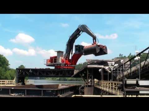 MANTSINEN - 140EF Material Handler, Coal unloading