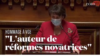 Roselyne Bachelot rend hommage à Valéry Giscard d'Estaing au Sénat