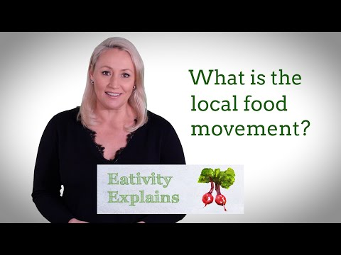 What is the local food movement?
