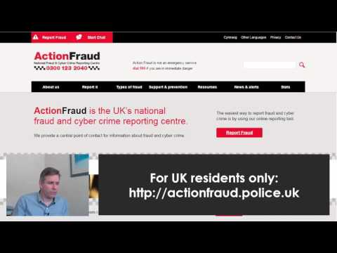 actionfraud police website. If you have been scammed