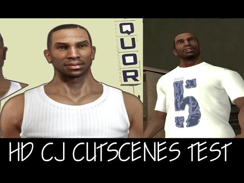 GTA SA: HD CJ CUTSCENES TEST